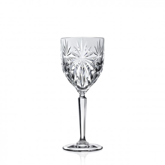 RCR Cristalleria Italiana Wine Goblet Oasis Ultraclear Crystal Glass 6 pcs