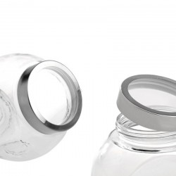Glass Jar With Silver Transparent Lid 1600ml